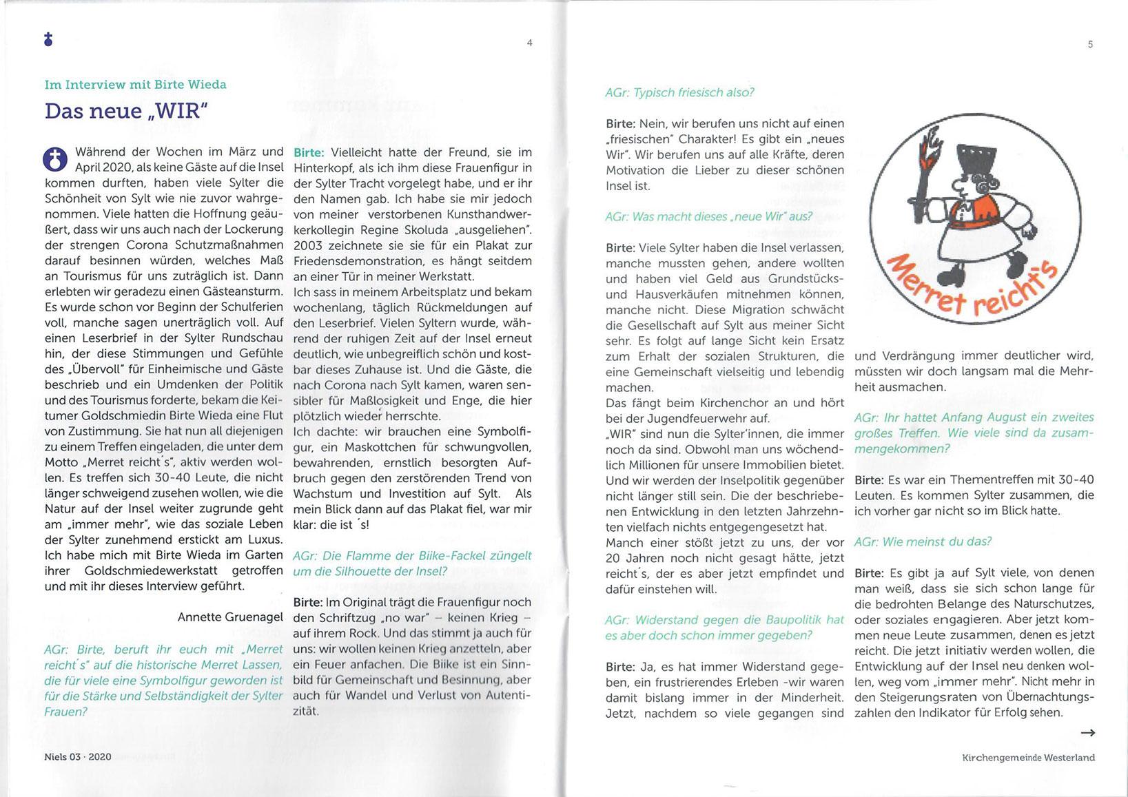 Kirchenbrief St. Niels 03-2020